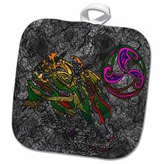 3dRose DYLAN SEIBOLD-LINE ART - DRAGON ABSTRACT SMILING - Potholder by 3dRose, http://www.amazon.com/dp/B01NA6J3JX/ref=cm_sw_r_pi_dp_x_TaRNybN76509F