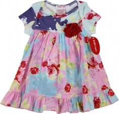 Baby Nay Floral Multi Colored Rose Dress
