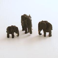 Vintage Miniature Elephant Figurines by efinegifts on Etsy