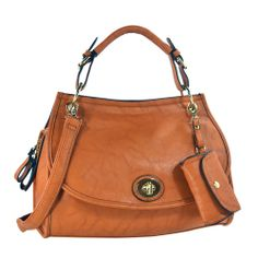 Add chic sophistication to any ensemble with this beautiful and stylish office tote. With smooth lines, doctor's bag shape, classic color, and the subtle shimmer of gold-tone hardware, this l… Clearance Handbags, Fashion Bags, Womens Fashion, Stylish Office, Tote Handbags, Shoulder Bag, Brown, Accessories, Collection