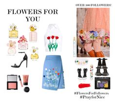 """Flowers For Followers"" by wednesday-williams on Polyvore featuring VIVETTA, Giuseppe Zanotti, Marc Jacobs, Yves Saint Laurent, NARS Cosmetics, Flowers, marcjacobs, narscosmetics and FlowersForFollowers"