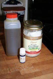 Eczema cream  3-4 T. virgin or extra-virgin coconut oil  1 T. olive oil  20 drops lavender essential oil