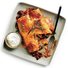Black Bean and Cheese Enchiladas with Ranchero Sauce @cookinglight
