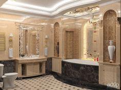 Ванная комната: интерьер, квартира, дом, санузел, ванная, туалет, классицизм, ампир, неогрек, палладианство, 10 - 20 м2 #interiordesign #apartment #house #wc #bathroom #toilet #classicism #10_20m2 arXip.com