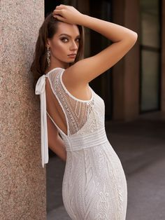 Amina dress from the collection The Star of Milan by Victoria Soprano Wedding Dress Bustle, Lace Wedding Dress, Luxury Wedding Dress, Gorgeous Wedding Dress, Wedding Dress Shopping, Beautiful Gowns, Beautiful Bride, Short Wedding Gowns, Second Wedding Dresses