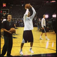 Danny Green of the Spurs prepares for Game 5, 2013 NBA Finals.