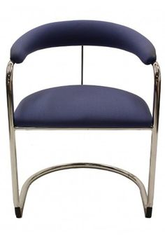 Shelby Williams Sled Base Side Chair, With Chrome Frame.