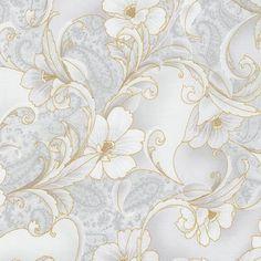 Robert Kaufman Fabrics: SRKM-15840-12 GREY from Grand Majolica
