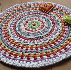 Colourful circular rug