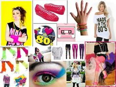80's style. Basically this was me! Haha