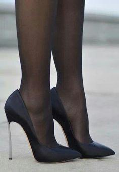 Classic Casadei Black Stilettos. Tacchi Close-Up #Shoes #Heels