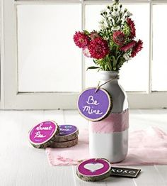 DIY Valentines using Wood Slices   Crafts   Country Woman Magazine   Love the Country
