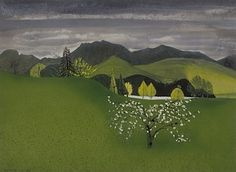 Penrith to Keswick, 1955 by Peter Yates. Painting Gallery, Lake District, Artist Painting, Landscape Art, Golf Courses, Penrith, England, Paintings, Irish