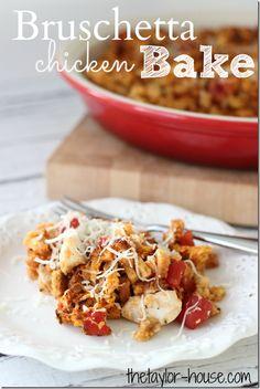 Bruschetta Chicken Bake, Chicken Recipes, Easy Recipes