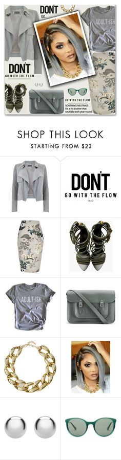 """""""Mixed Messages"""" by fassionista ❤ liked on Polyvore featuring Mint Velvet, River Island, Giuseppe Zanotti, Humör, The Cambridge Satchel Company, Kenneth Jay Lane, IBB and Prada"""
