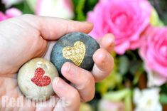 Awww so sweet. Adore the Heart Stones. Tactile, lovely, quick and easy to make!