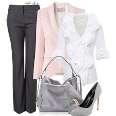 Cute Work Outfits 2012 | Pink and Gray | Fashionista Trends.