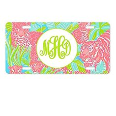 AnnaStoree Personalized Monogrammed Aluminum Metal License Plate Auto Tag License Plate Covers, Aluminum Metal, Car Accessories, Tapestry, Plates, Decor, Auto Accessories, Hanging Tapestry, Licence Plates