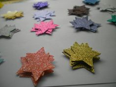 50 Glitter Stars Die Cut by ang744 on Etsy, $2.00