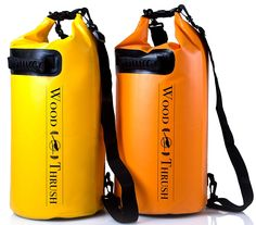 WOODTHRUSH Heavy Duty 20L Dry Bags! Waterproof Lightweight 500D Poly Tarp with Two Adjustable Shoulder Straps Extra Reinforced Bottom and Additional Handle! WHEN IT HAS TO STAY DRY Perfect for Fishing Boating Kayaking Camping Backpacking and much more! Each Bag Only $24.99 Only Yellow Left ! -- Check out this great product.