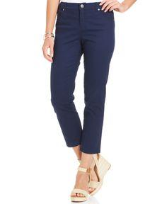 Style&co. Petite Five-Pocket Tummy Capri Pants