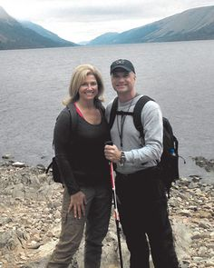 Lisa Stewart of Winter Springs and Matt Durfee of Bay Hill complete an 80-mile hike in Scotland.