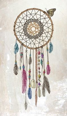 Make a Dream Catcher with lace, ribbons, beads, and other beautiful things.