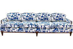Large Chinoiserie Toile Sofa on OneKingsLane.com in Waverly Canton Bazaar