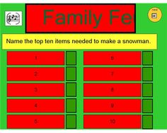 Family Feud - To add more than one question, copy and paste the ...