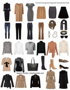 Creating a Capsule Wardrobe To Simplify and Change Your Life – Steph's Scribe Capsule Wardrobe Casual, French Capsule Wardrobe, Capsule Outfits, Professional Wardrobe, Classic Wardrobe, Fashion Capsule, Fall Fashion Outfits, Work Wardrobe, Fall Wardrobe