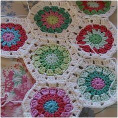 Hexagon granny squares