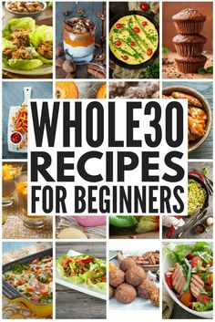 Whole30 Diet Plan: 50+ Whole30 Recipes You'll Love   Interested in starting the Whole30 challenge but don't know where to start? We've got a complete list of Whole30 rules, a Whole30 food list with things to eat and avoid to take the guess work out of shopping lists, and we've also pulled together 50+ easy-to-make Whole30 breakfast, lunch, dinner, snack, and dessert recipes you'll love. Eating clean has never tasted so good!