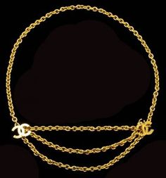 A Goldtone Chainlink Belt, by Chanel
