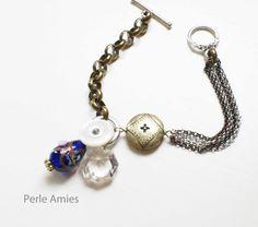 Vintage Charm Bracelet Blue.