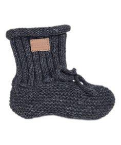 Melton Baby Dark Gray Lamb Wool Footies Sock | zulily