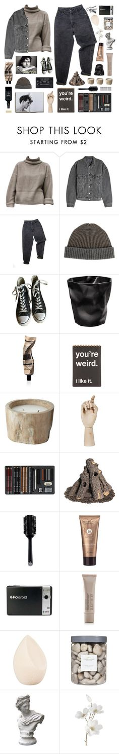 """""""lost in the words that you say to me // #bottvs"""" by junglex ❤ liked on Polyvore featuring Yeezy by Kanye West, GET LOST, Levi's, Raffi, Converse, Aesop, HAY, Tiffany & Co., GAS Jeans and GHD"""