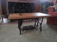 Repurposed Tredal Sewing Machine Coffee Table by FromOutOfTheWoods, $450.00
