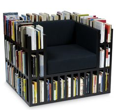 Reading chair - always have a book at hand!