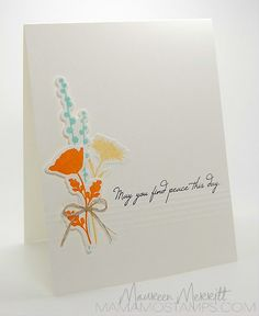 Mama Mo Stamps: Peaceful Wildflowers