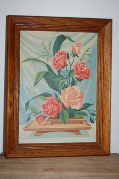 Vintage Floral Painting Paint by Numbers Cottage by JunkyardElves