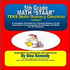 5th Grade Texas MATH STAAR TEKS Checklist