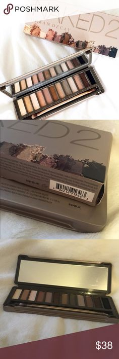 Naked 2 palette New in box! (Some colors have been very lightly swatched) price is firm💕 Check out my closet for makeup bundles and more💝 Urban Decay Makeup Eyeshadow