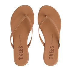TKEES Flip Flops FOUNDATIONS ❤ liked on Polyvore featuring shoes, sandals, flip flops, beach shoes, tkees, beach footwear, beach sandals and tkees flip flops