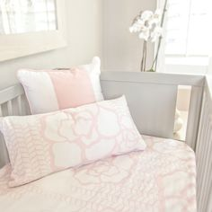 Capri Crib Sheet - darling, light pink floral design that we just love!