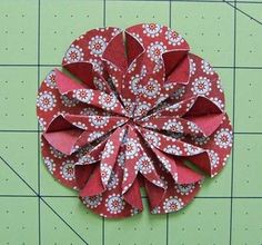 paper flower made from folded circles