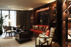 One Hyde Park entertainment room designed by Casa Forma.