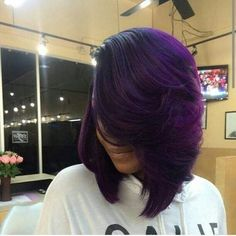 20 Cool ideas for lavender ombre hair and purple ombre. Best and unique ideas for lavender ombre hair and purple ombre. Color Ombre Hair, Purple Hair, Purple Bob, Purple Ombre, Purple Balayage, Deep Purple, Short Bob Hairstyles, Girl Hairstyles, Black Hairstyles