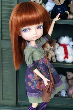 https://flic.kr/p/DdcfrC | Berry Bubble Pop-Pop | Lila's wearing a Darling Clover dress