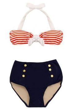 pinup sailor bikini