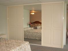 wardrobe combination mirror and vinyl doors